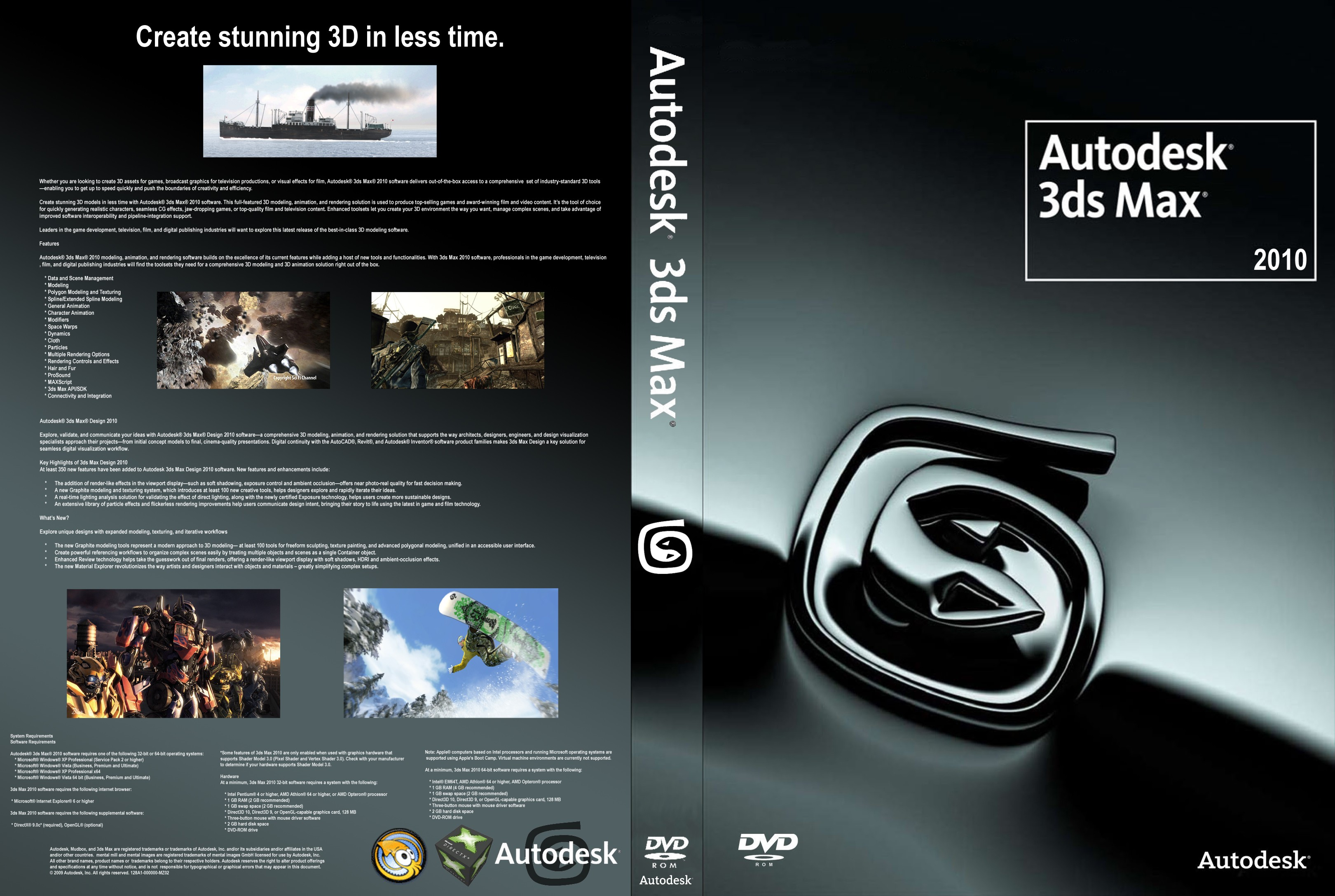 Скачать Autodesk 3D Max Studio (2011/PC/Русский) .