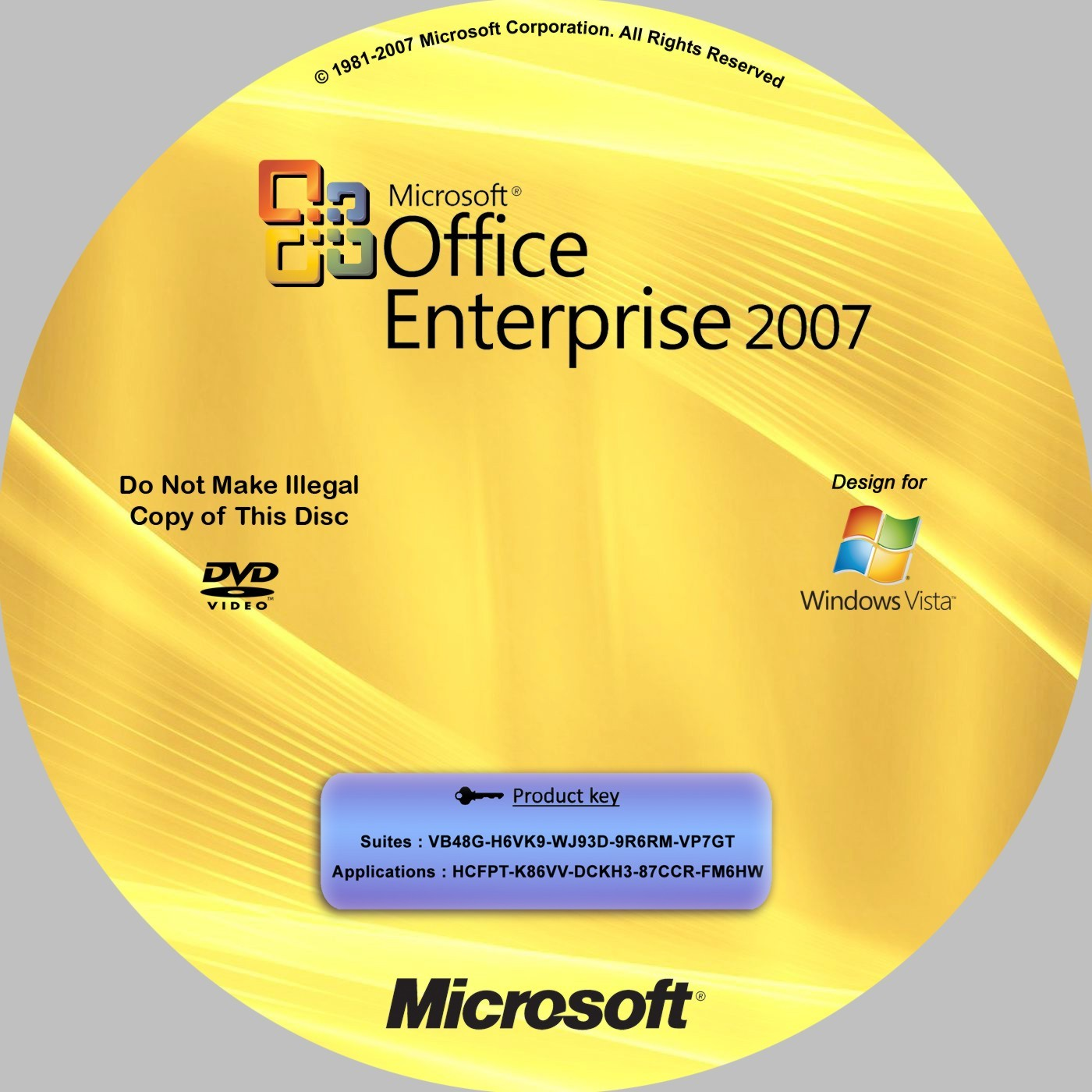 B Microsoft Office Enterprise 2007 RUS+KEY.