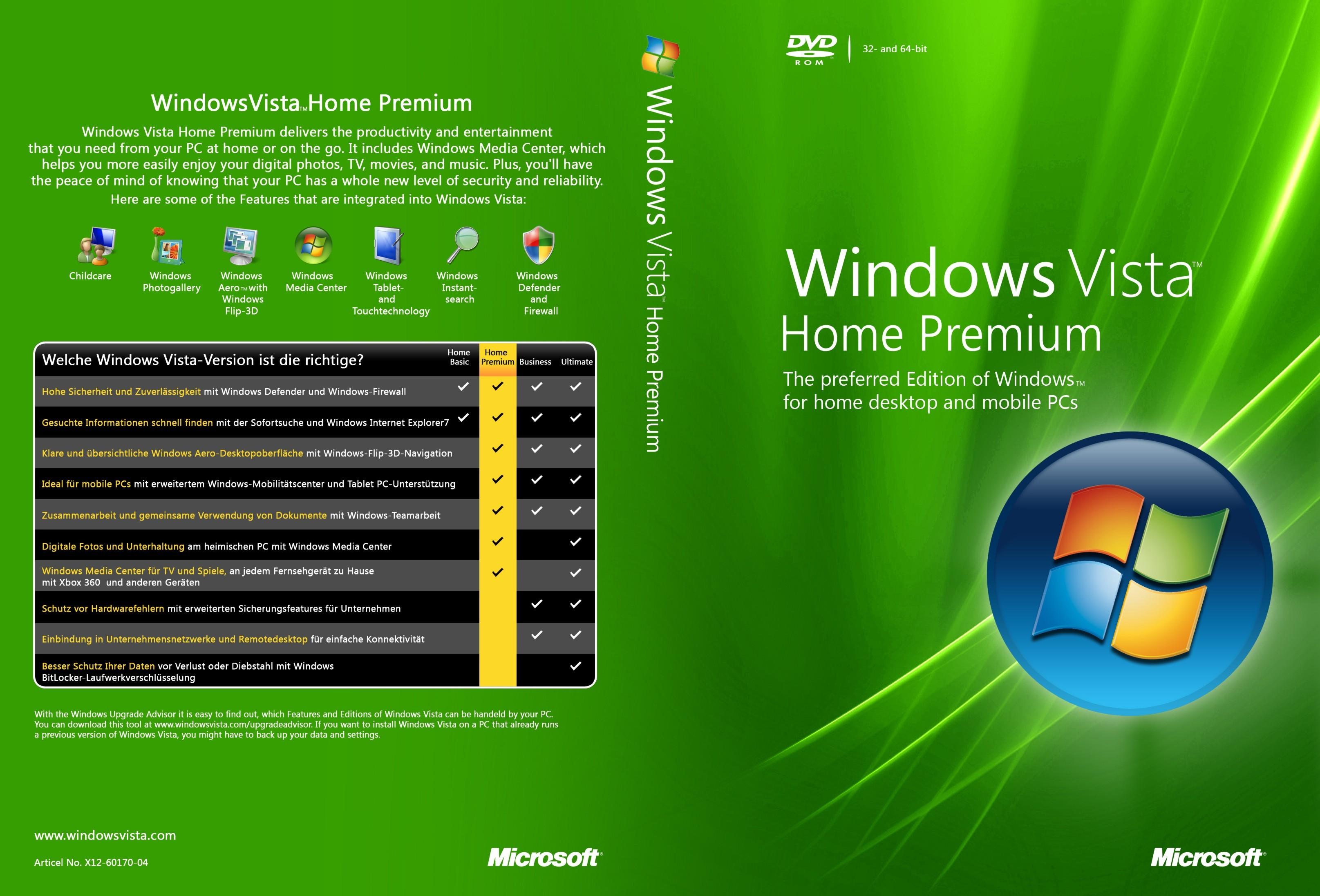 Windows Vista Home Premium  Bit Iso Uk