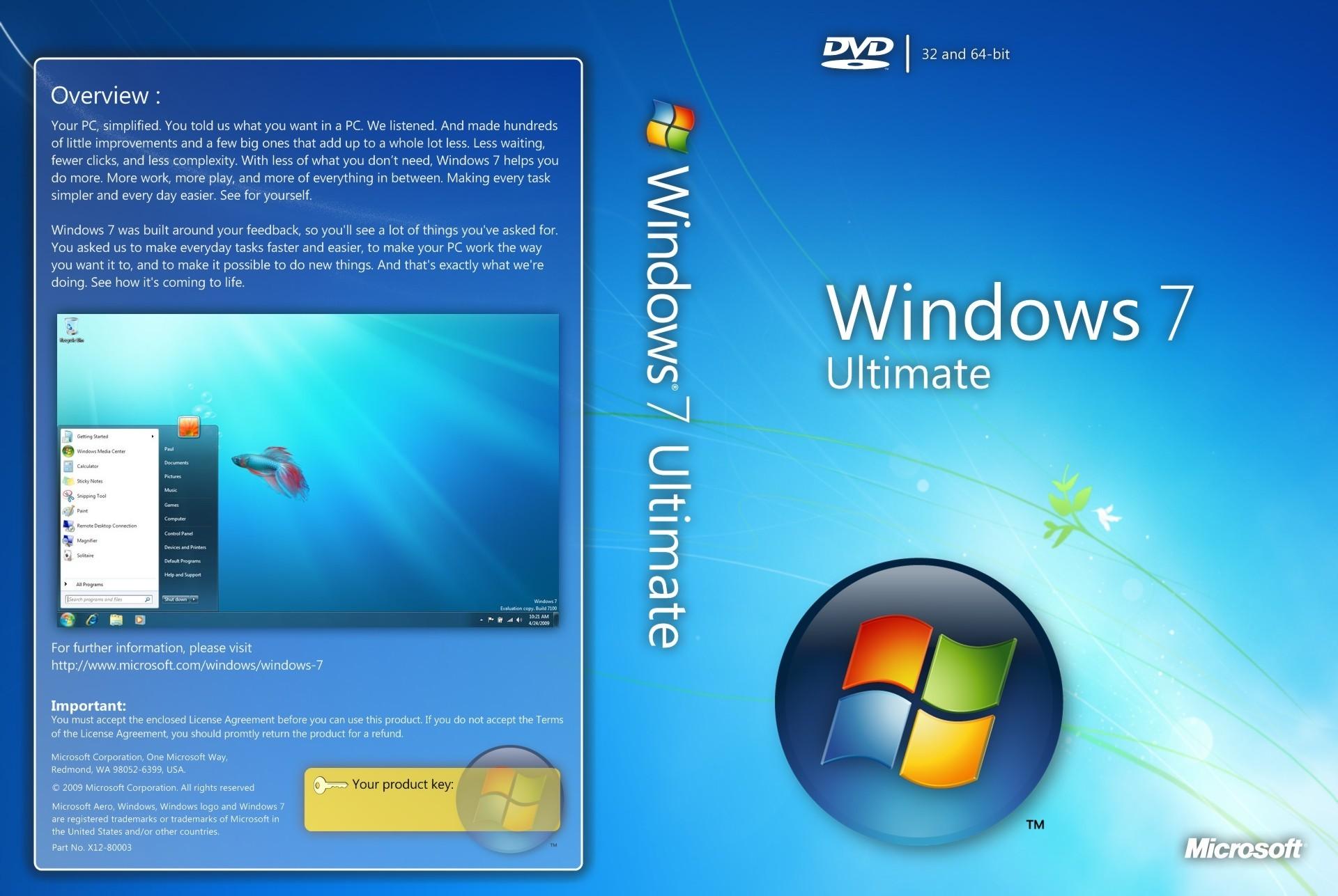 Регистрация Windows 7 Ultimate 64