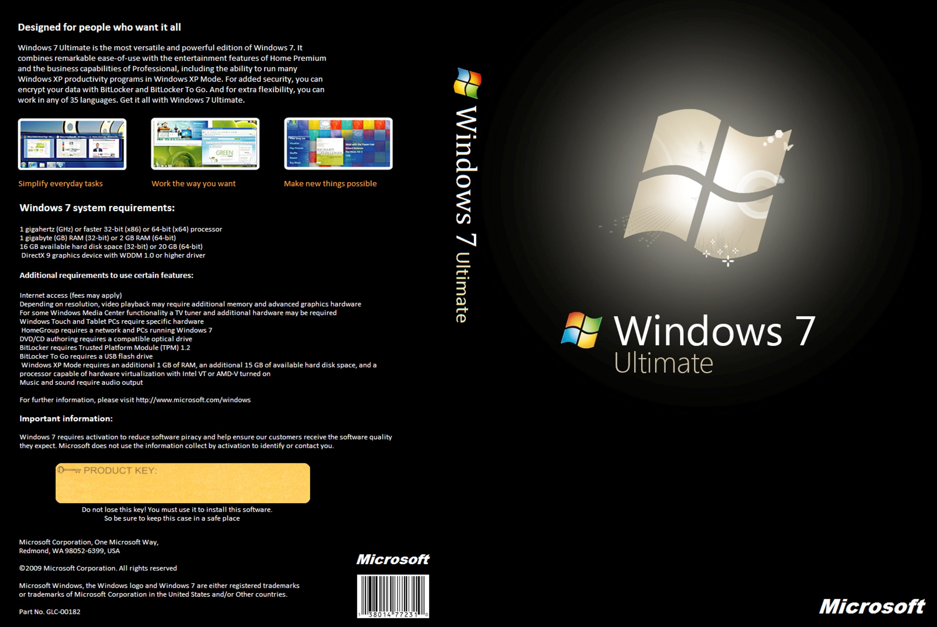 Windows 7 ultimate sp1 x64 en us pre activate mar2017 for Window 7 ultimate