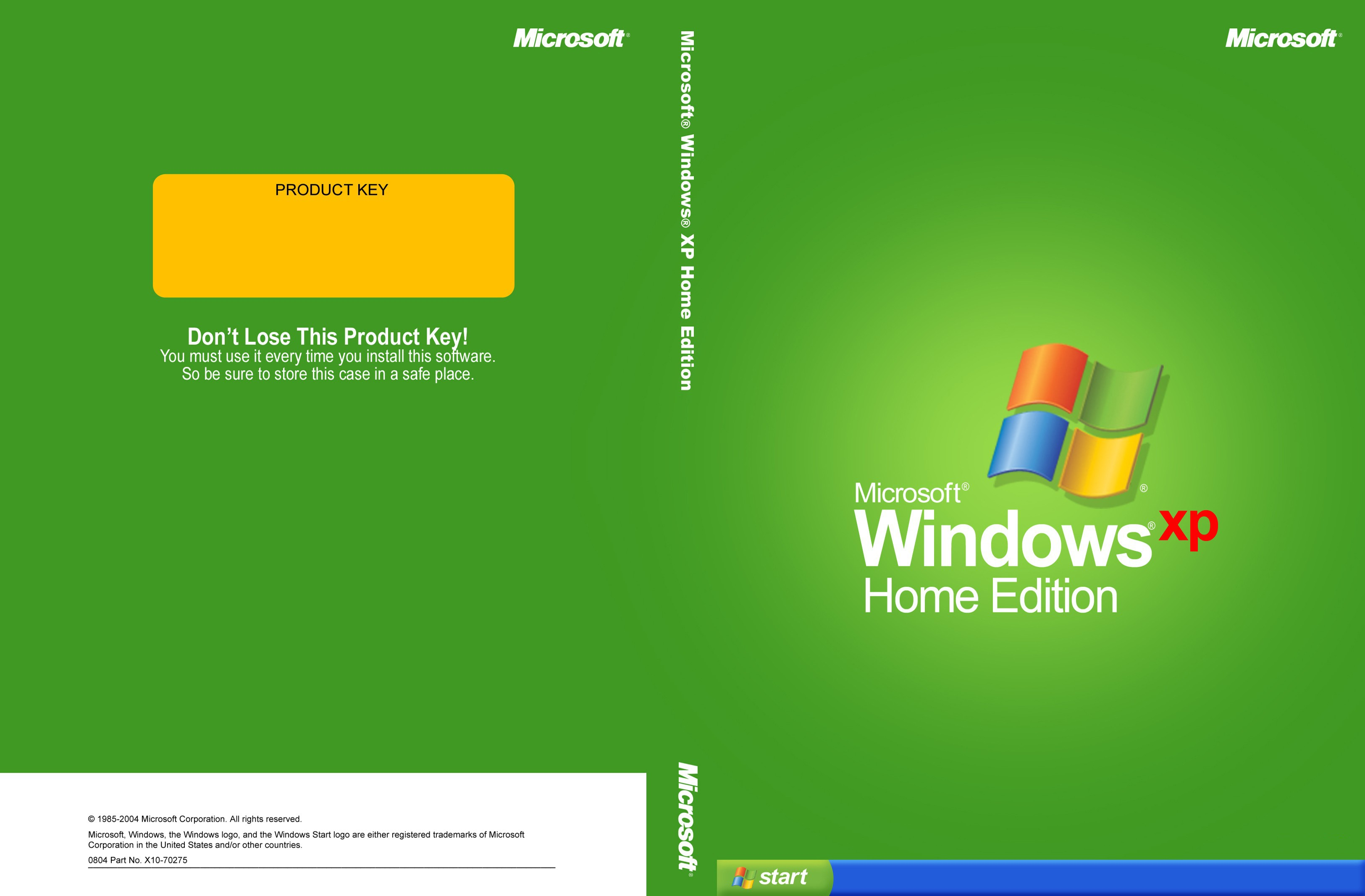 Disk Edition Home Startup Window Xp